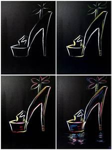 Neon Buchstaben Selber Machen : evolution of the neon stiletto painting with a twist ~ Michelbontemps.com Haus und Dekorationen