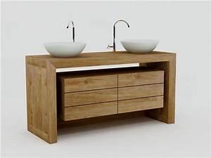 achat meuble de salle de bain groix walk meuble en teck With salle de bain design avec meuble pour salle de bain