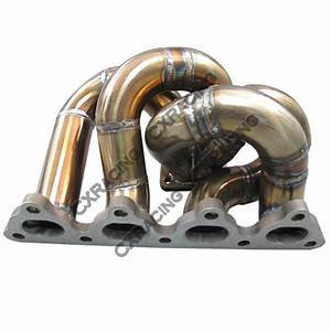 T28 Thick Manifold   Downpipe For Civic D15 D16 D