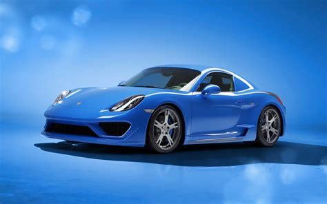 2018 Studiotorino Porsche Cayman Moncenisio Blue Wallpaper