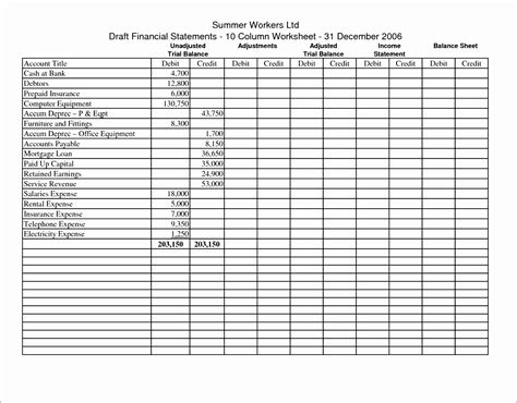 11 excel trial balance template exceltemplates exceltemplates