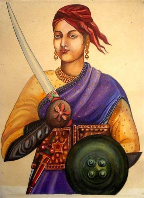 jhansi ki rani laxmi bai vintage painting indian freedom