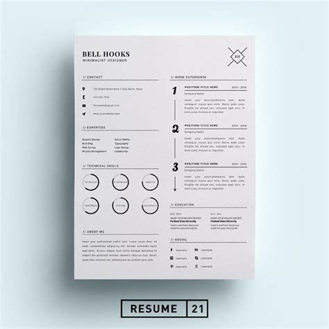 Chronological Resume Minimalist Design by 1000 Ideas About Resume Fonts On Resume