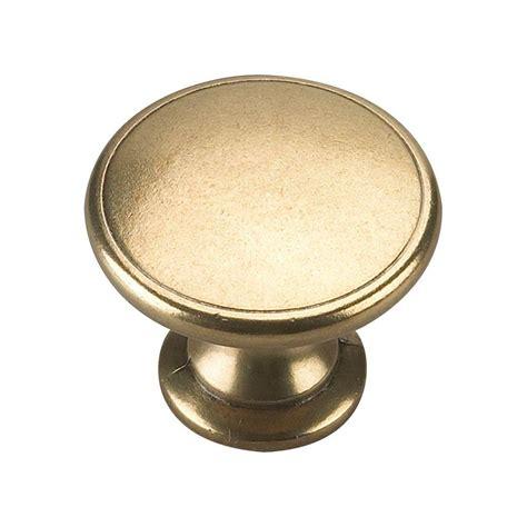 home depot kitchen cabinet knobs richelieu hardware 1 3 4 in brass cabinet knob bp881130