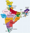 States of India   Maps and Routes   An India Traveler's ...