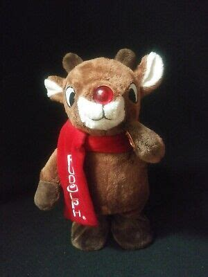 """Has it been a constant every christmas season in your home? 12"""" Rudolph The Red Nosed Reindeer Light Up Singing ..."""
