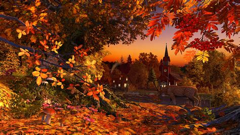 Animated Autumn Wallpaper - autumn 3d screensaver live wallpaper hd