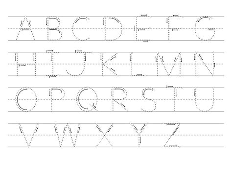 tracing letters a z worksheets learning printable