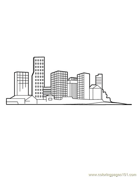 downtown coloring page  buildings coloring pages