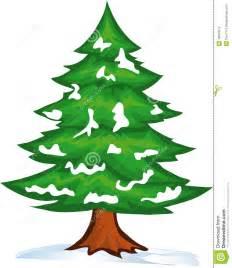 snow christmas tree stock vector image of winter white 16967012