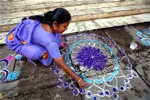 Indian Rangoli Kolam Design