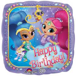 """Shimmer and Shine Happy Birthday Authentic Licensed Foil / Mylar Balloon 18"""" ( Each )"""