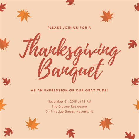 thanksgiving card email template customize 108 thanksgiving invitation templates
