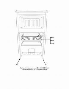 Frigidaire Frt04lg3dw Compact Refrigerator Parts