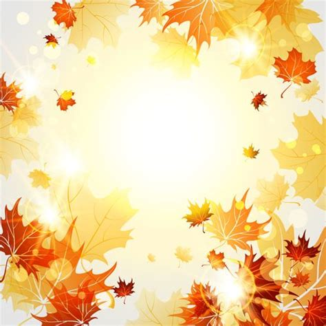 Autumn Leaves Fall Backgrounds Powerpoint by Bright Autumn Leaves Vector Backgrounds 06 ξ