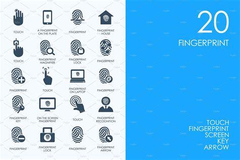 fingerprint icons  images simple icon icon web font