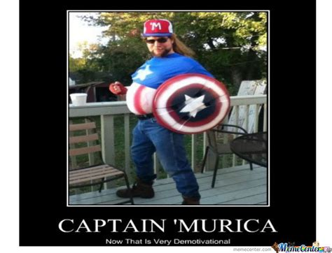 Murica Meme - captain murica by omarunkown meme center