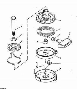 Evinrude Rewind Starter Parts For 1982 15hp E15rlcnc Outboard Motor