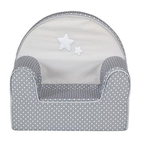 fauteuil club gris et blanc pour enfant doux r 234 ve