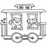 Caboose Train Coloring Drawing Template Getdrawings Templates sketch template
