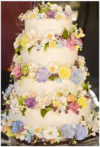 decorazioni torte pasta di zucchero fiori torta con i fiori tutte le decorazioni foto 13 44