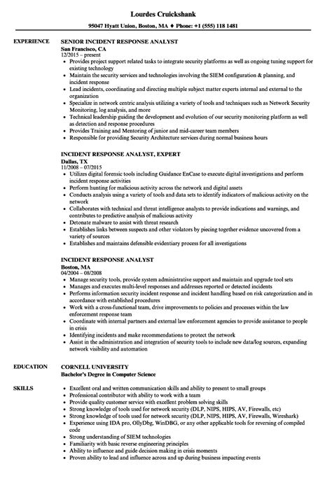 network security analyst sle resume water manager