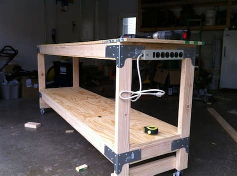 how to make a work table how to build a heavy duty workbench one project closer