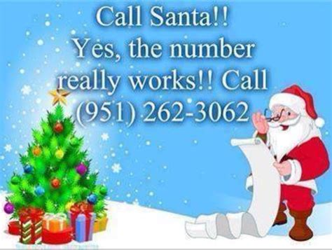 santa s real phone number the real santa claus phone number www imgkid the