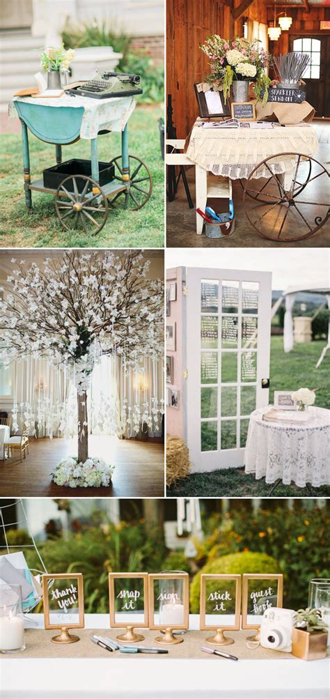35 Creatively Beautiful Guestbook and Sign in Table Décor