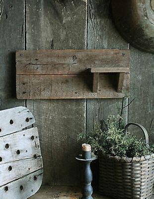 primitive early homestead  sink side wall rack towel holder shelf antique price guide