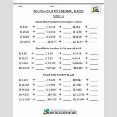Rounding Decimal Places Numbers To 2dp Estimating Sums Worksheets  Criabooks Criabooks