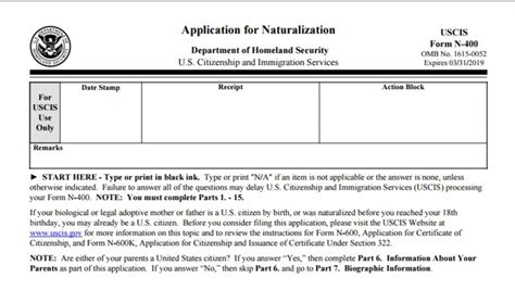 www citizenship application form new americans caign new n 400 naturalization
