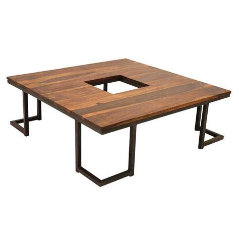 table basse r 233 tro en fer forg 233 et palissandre style loft
