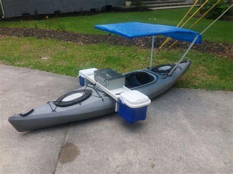 kayak modification fishing machine boat mod canoemodificationsdiy canoeupgrades