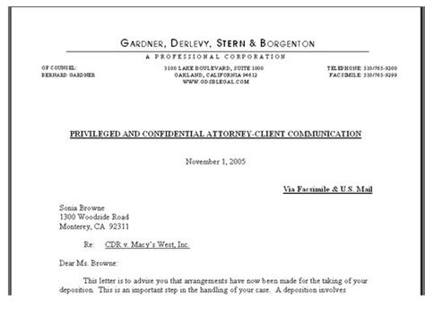 Best Photos Of Legal Business Letter Sample