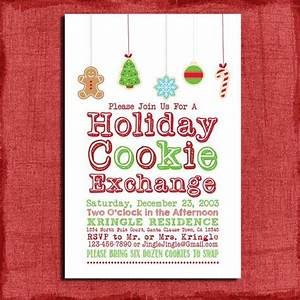 Printable Holiday Cookie Exchange Party Invitation