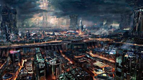 cyberpunk science fiction city wallpapers hd desktop