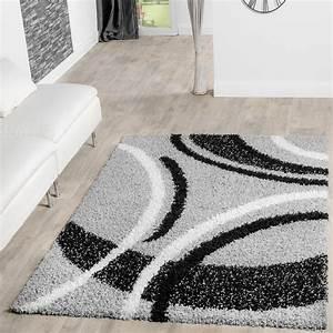 Hochflor Teppich Schwarz : moderner hochflor teppich shaggy vigo gemustert in grau schwarz creme top preis hochflor teppich ~ Markanthonyermac.com Haus und Dekorationen