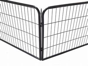 16 panel large metal pet dog cat exercise barrier fence With big dog fence cage