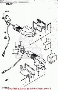 Suzuki Gs1100es 1982  Z  Usa  E03  Turn Signal Lamp