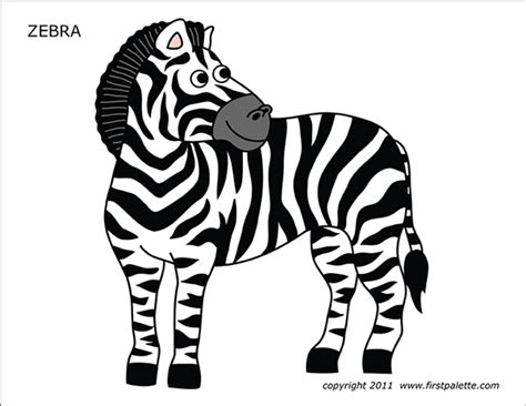 zebra  printable templates coloring pages firstpalettecom