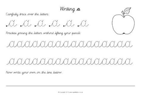 cursive joined alphabet letter writing worksheets sb10166 sparklebox