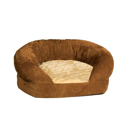 orthopedic bolster bed paw large memory foam bed with removable cover