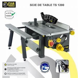 Banc De Scie Electrique : scie circulaire sur table ts1200 113366 fartools ~ Dailycaller-alerts.com Idées de Décoration