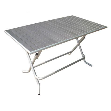 table cuisine pas cher table de jardin naterial boston rectangulaire gris 6