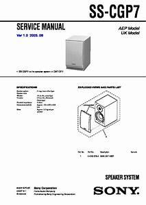 Sony Cmt-gp7 Service Manual