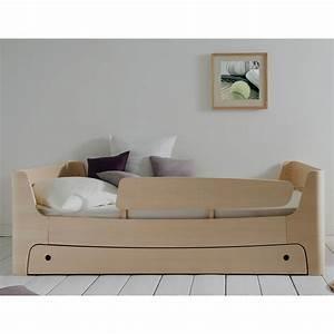 Lit Design Enfant : lit 90x200 sommier et tiroir fr ne blanchi alfred et compagnie ~ Teatrodelosmanantiales.com Idées de Décoration