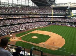 At T Park Seating Chart Rows Miller Park Section 411 Home Of Milwaukee Brewers