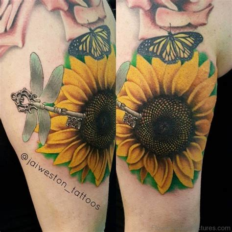 amazing sunflower tattoos