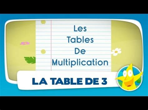 la table de multiplication de 3 comptines pour enfants la table de 3 apprendre les tables de multiplication